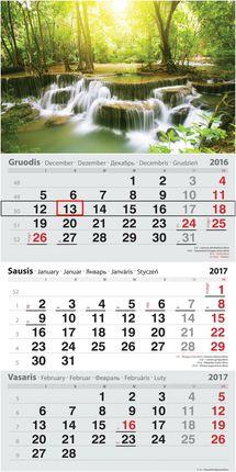 2017 metų kalendorius. Krioklys
