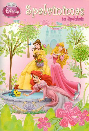 Princesės. Spalvinimas su lipdukais