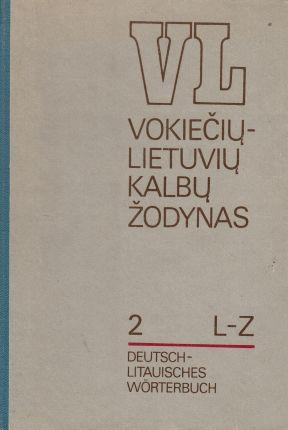 Vokiečių - lietuvių kalbų žodynas II tomas