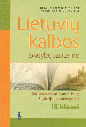 2-asis Lietuvių kalbos pratybų sąsiuvinis IX klasei