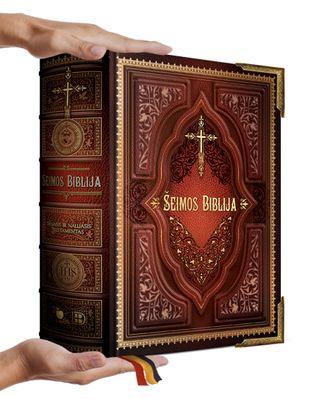ŠEIMOS BIBLIJA: 1600 puslapių, daugiau nei 900 iliustracijų – gražiausiai kada nors pasaulyje išleistas Senasis ir Naujasis Testamentas vienoje XXL knygoje + DOVANŲ Jūsų šeimos vardas, užrašytas auksu ant viršelio
