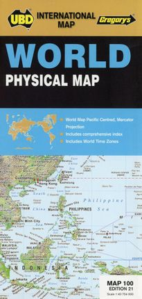 World Physical Map 1 : 40 754 000