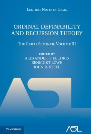 Ordinal Definability and Recursion Theory: Volume 3