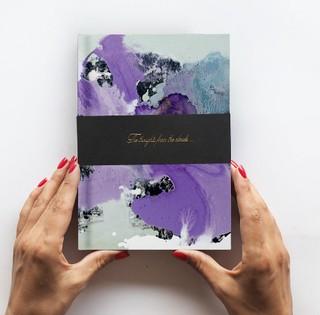 Užrašinė CLOUD Purpurinė orchidėja A5
