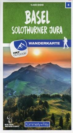 Basel / Solothurner Jura 05 Wanderkarte 1:40 000 matt laminiert
