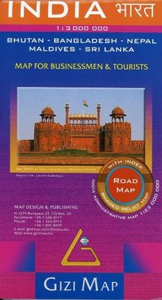 India Road  Map 1 : 3 000 000