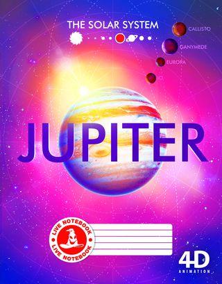 Atgyjantis 4D sąsiuvinis Jupiteris (linijomis, 48 l.)