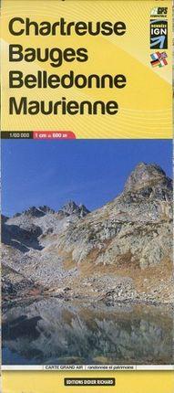 Libris Wanderkarte 03. Chartreuse - Bauges - Belledonne - Maurienne 1 : 60 000