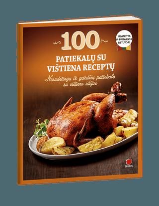 100 patiekalų su vištiena receptų