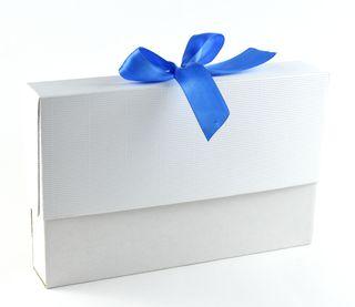 Dėžutė knygoms (balta, 16,5 x 25 x 4 cm)
