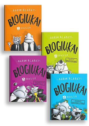 4 knygų rinkinys BLOGIUKAI: išdykiausia ir šauniausia knygų serija