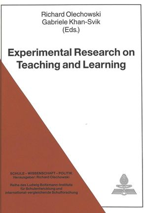 Experimental Research on Teaching and Learning
