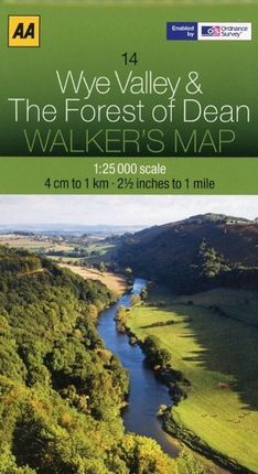 Walker's Map 14 Wye Valley The Forest of Dean 1 : 50 000