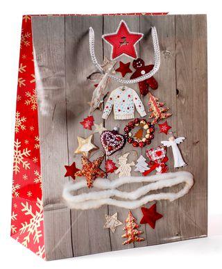Kalėdinis dovanų maišelis (žaisliukų eglutė, mažas)