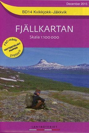 Fjällkartan  1 : 100 000 BD 14 Kvikkjokk - Jäkkvik  Bergwanderkarte