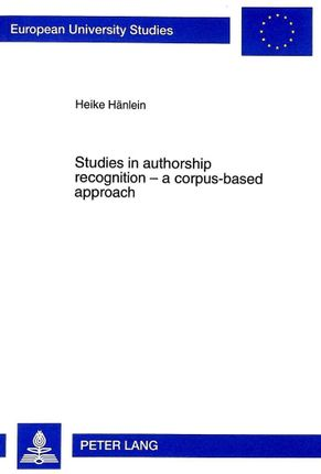 Studies in authorship recognition - a corpus-based approach