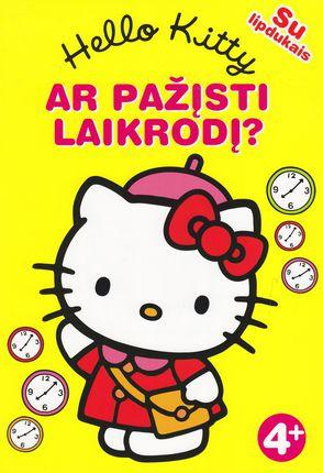 Hello Kitty. Ar pažįsti laikrodį (su lipdukais)