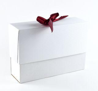 Dėžutė knygoms (balta, 16,5 x 23,5 x 7 cm)