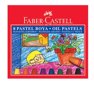 Aliejinės kreidelės Faber-Castell, 8 sp.