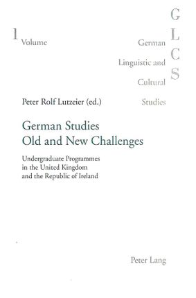 German Studies: Old and New Challenges