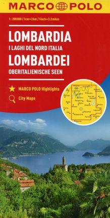 MARCO POLO Karte Italien 02. Lombardei, Oberitalienische Seen 1:200 000
