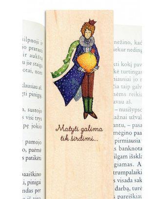 """Medinis knygų skirtukas """"Mažasis princas"""""""