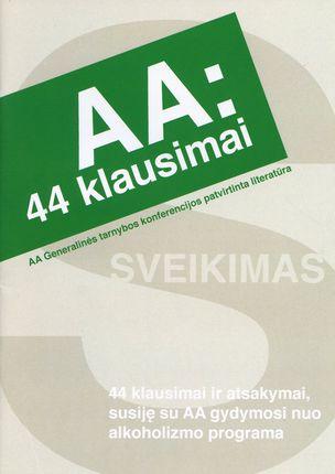 AA: 44 klausimai