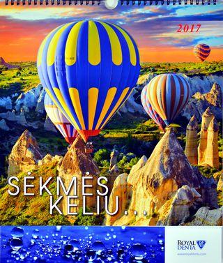 """2017 metų sieninis kalendorius """"Sėkmės keliu"""" su dovana"""
