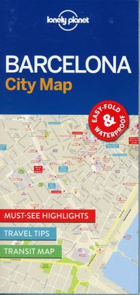 Lonely Planet Barcelona City Map