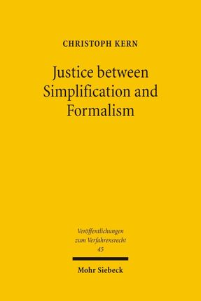 Justice between Simplification and Formalism