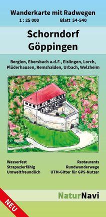 Schorndorf - Göppingen 1 : 25 000, Blatt 54-540