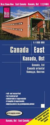 Reise Know-How Landkarte Kanada Ost 1 : 1.900.000