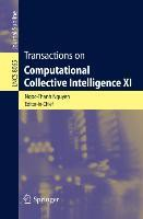 Transactions on Computational Collective Intelligence XI