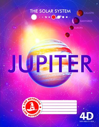Atgyjantis 4D sąsiuvinis Jupiteris (langeliais, 48 l.)
