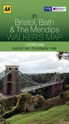 Walker's Map 25 Bristol, Bath 1 : 25 000