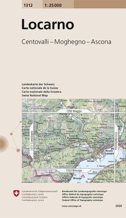 Swisstopo 1 : 25 000 Locarno