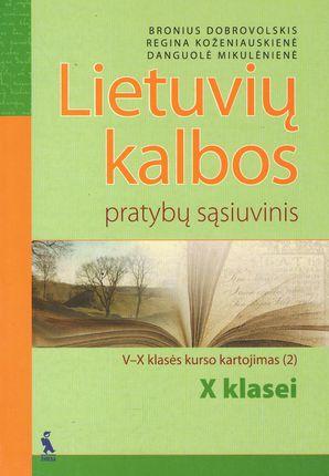 2-asis lietuvių kalbos pratybų sąsiuvinis X klasei