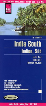 Reise Know-How Landkarte Indien, Süd  1 : 1 200 000