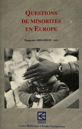 Questions de minorités en Europe
