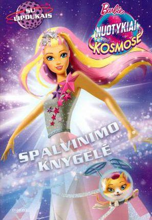 Barbie. Nuotykiai kosmose. Spalvinimo knygelė su lipdukais