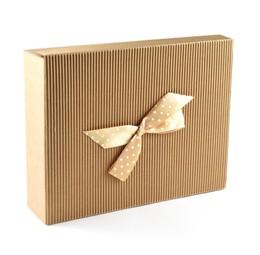 Dėžutė knygoms (ruda, 19,5 x 25 x 6 cm)