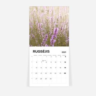 Sieninis kalendorius Žydi gėlės 2021