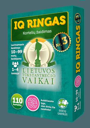 IQ ringas Nr. 3. Kortelių žaidimas. Lietuvos tūkstantmečio vaikai