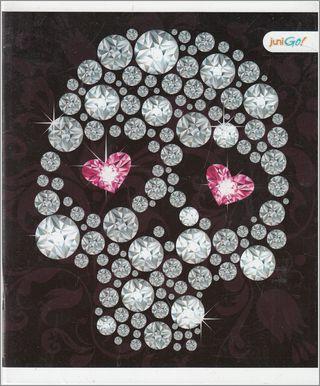 48 lapų sąsiuvinis langeliais (kaukolė)
