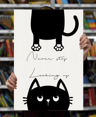 """Laimingų namų taisyklės """"Never stop looking up"""", 60 x 40 cm"""