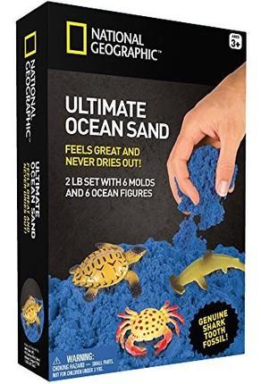 NATIONAL GEOGRAPHIC kinetinio smėlio rinkinys su jūros gyvūnais