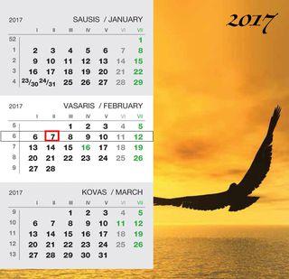 """2017 metų pastatomas kalendorius """"Jūra"""""""