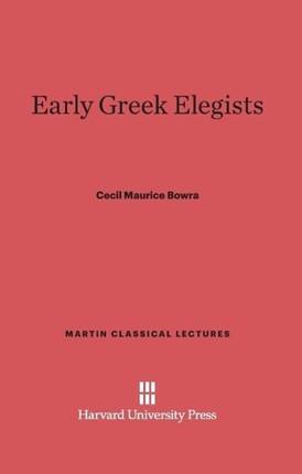 Early Greek Elegists