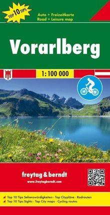 Vorarlberg, Top 10 Tips, Autokarte 1:100.000