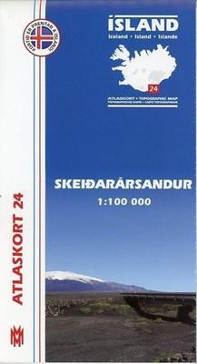 Island Atlaskort 24 Skeidararsandur 1:100.000